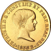 6400 Réis - Pedro II – obverse