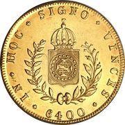 6400 Réis - Pedro II – reverse