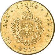 4000 Réis - Pedro II – reverse