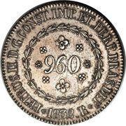 960 Réis - Pedro II – obverse