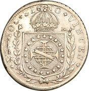 160 Réis - Pedro I – reverse