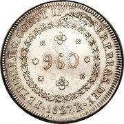 960 Réis - Pedro I – obverse