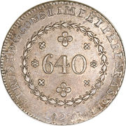640 Réis - Pedro I – obverse