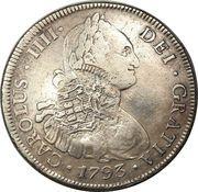 960 Réis - João Prince Regent (Countermarked 8 Reales; Cuiaba) – obverse