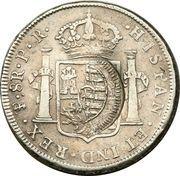 960 Réis - João Prince Regent (Countermarked 8 Reales; Cuiaba) – reverse