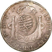 960 Réis - João Prince Regent (Countermarked 8 Reales; Mato Grosso) – reverse