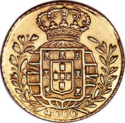 4000 Réis - João VI – reverse