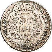 80 Réis - João VI – obverse
