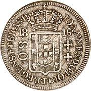 80 Réis - João Prince Regent – obverse
