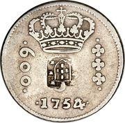 640 Réis - João Prince Regent (Countermarked 600 Réis) – obverse
