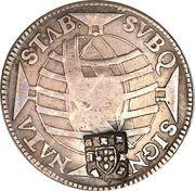 320 Réis - João Prince Regent (Countermarked 300 Réis) – reverse