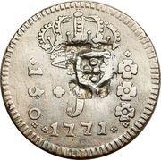 160 Réis - João Prince Regent (Countermarked 150 Réis) – obverse