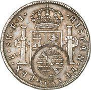 960 Réis - João Prince Regent (Countermarked 8 Reales; Minas Gerais) – reverse
