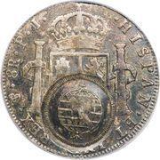960 Réis - João Prince Regent (Minas Gerais; countermarked Bolivia 8 Reales, KM#73) – reverse