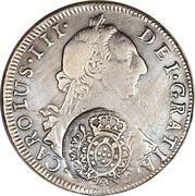 960 Réis - João, Prince Regent (Minas Gerais; countermarked on Bolivia 8 Reales, KM#55) – obverse