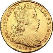 6400 Réis - João, Prince Regent – obverse