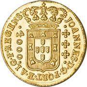 4000 Réis - João, Prince Regent – obverse