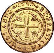 4000 Réis - Maria I & Pedro III – reverse