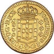2000 Réis - José I – obverse