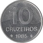 10 Cruzeiros (Brazil's main roads) -  reverse