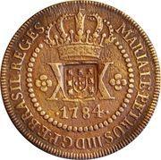 40 Réis - João Prince Regent (Countermarked 20 Réis) – obverse