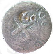 60 Reis - João IV (Countermarked ½ Tostão) – reverse