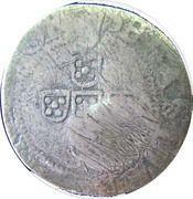 60 Reis - João IV (Countermarked ½ Tostão) – obverse