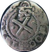50 Réis - João IV (Countermarked 2 Vinténs) – reverse