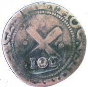 100 Réis - João IV (Countermarked 80 Réis) – reverse