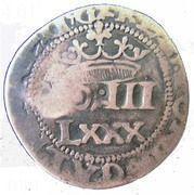 100 Réis - João IV (Countermarked 80 Réis) – obverse