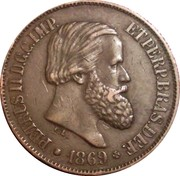 20 Réis - Pedro II – obverse