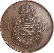 20 Réis - Pedro II – reverse