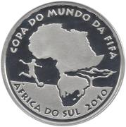 5 Reais (South Africa World Cup) – obverse