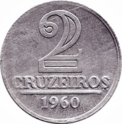 2 Cruzeiros – reverse
