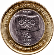 1 Real (Olympic Flag Handover) -  obverse