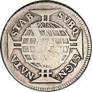 640 Réis - João Prince Regent (Countermarked 600 Réis) – reverse