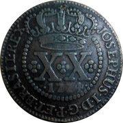 20 Réis - José I (Lisbon Mint) – obverse
