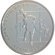 2 Reais (FIFA World Cup 2014 - Heading the Ball) – obverse