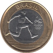 1 Real (Olympic Games Rio 2016 - Atletism) -  obverse