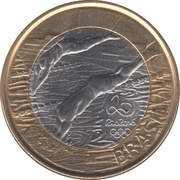 1 Real (Olympic Games Rio 2016 - Swimming) -  obverse