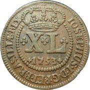40 Réis - José I (Lisbon Mint) – obverse