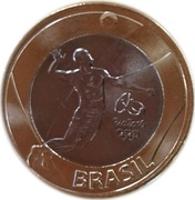1 Real (Olympic Games Rio 2016 - Volleyball) – obverse