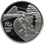 5 Reais (Olympic Games Rio 2016 - Running / Arches of Lapa) – obverse