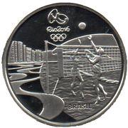 5 Reais (Olympic Games Rio 2016 - Beach volleyball / Chorinho) – obverse