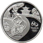 5 Reais (Olympic Games Rio 2016 - Cycling / Toucan) -  obverse