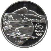 5 Reais (Olympic Games Rio 2016 - Rowing / Heliconia) – obverse