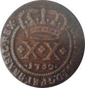 20 Réis - José I (Brazil Mint) – obverse