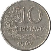 10 Centavos (non magnetic) -  reverse