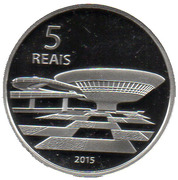 5 Reais (Olympic Games Rio 2016 - Running / Contemporary Art Museum) – reverse