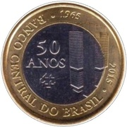 1 Real (50 Years of Central Bank) – obverse
